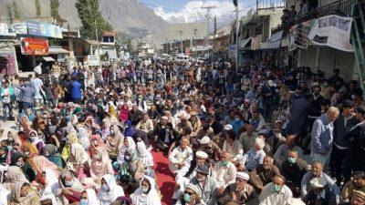 اسیران ہنزہ رہائی کمیٹی کا احتجاج دھرنا جاری چہلم جلوس شرکاء کا بھی اظہار ہمدردی