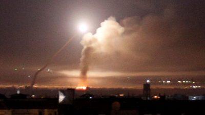 اسرائیل کے میزائل حملے میں شامی دارالحکومت کے اردگرد مقامات کو نشانہ بنایا گیا