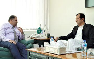 وزیر اعلیٰ گلگت بلتستان کی چیئرمین پی ٹی ایے سے ملاقات