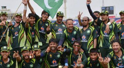 پاکستان نے بھارت کو ہرا کر 3ملکی ٹی ٹوئنٹی بلائنڈ کرکٹ ٹورنامنٹ اپنے نام کرلیا