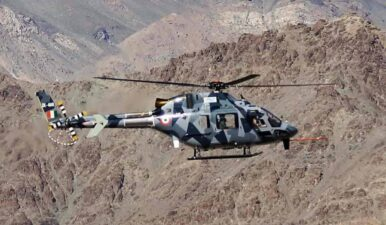مقبوضہ کشمیر میں بھارتی فوج کا ہیلی کاپٹر گر کر تباہ