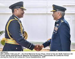 سربراہ پاک فضائیہ کی سری لنکن ہم منصب سے ملاقات،باہمی پیشہ وارانہ دلچسپی کے امور پر تبادلہ خیال