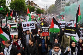 دنیا بھر میں فلسطینیوں کے حق میں مظاہروں کا سلسلہ جاری