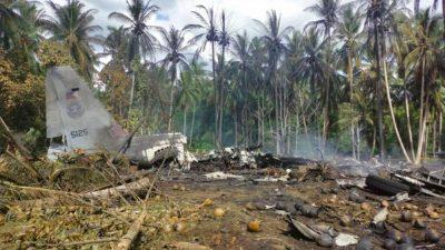 فلپائن میں فوجی طیارہ گرکر تباہ، 17 افراد ہلاک،40 زخمی