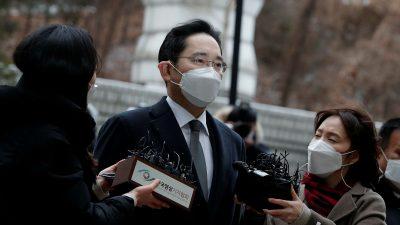سام سانگ کے وارث لی جے یونگ 5 ماہ بعد جیل سے رہا